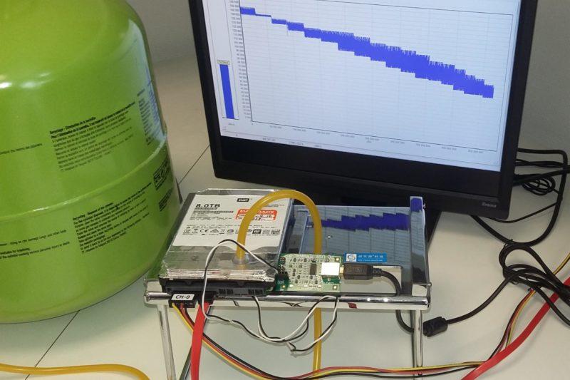 la récupération de données sur un disque dur à l'hélium